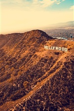 Preview iPhone wallpaper Los Angeles, Hollywood, USA, mountains, city