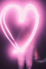Preview iPhone wallpaper Love heart light