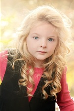 Preview iPhone wallpaper Lovely blonde little girl, child photography