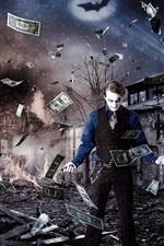 Preview iPhone wallpaper Magic show, man, money