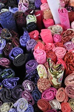 Many style fabric rolls, multicolor texture