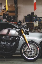Preview iPhone wallpaper Motorcycle and car