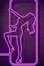 Neon lights, female figure