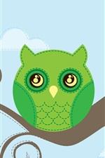 iPhone壁紙のプレビュー フクロウ、木の枝、ベクトルデザイン