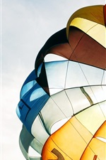 Preview iPhone wallpaper Parachute, colorful, sky
