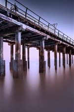 Preview iPhone wallpaper Pier, sea, dusk