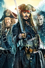 Preview iPhone wallpaper Pirates of the Caribbean: Dead Men Tell No Tales