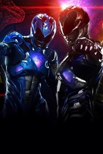 Preview iPhone wallpaper Power Rangers, super heroes