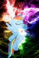 Preview iPhone wallpaper Rainbow Dash, My Little Pony