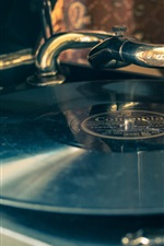 Preview iPhone wallpaper Record player, retro