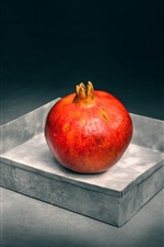 Preview iPhone wallpaper Red pomegranate, fruit photography, still life