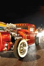 Preview iPhone wallpaper Retro car, road, night