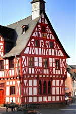 Preview iPhone wallpaper Rhens, Germany, houses, street, sunshine