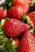 Preview iPhone wallpaper Ripe strawberries berries
