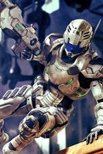 Robô, soldado, arma, jogo