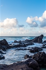 Preview iPhone wallpaper Sea, rocks, coast, nature