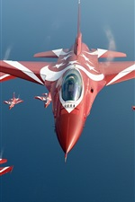 Preview iPhone wallpaper Singapore air force, F-16 Black Knights fighter