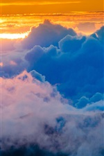 Preview iPhone wallpaper Sky, clouds, sunset, glow