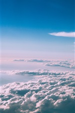 Preview iPhone wallpaper Sky, thick clouds