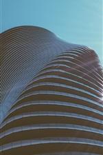 Preview iPhone wallpaper Skyscraper, buildings, sky, sun