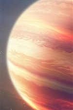 Preview iPhone wallpaper Space, universe, red planet, strips