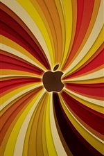Preview iPhone wallpaper Striped lines background, Apple theme
