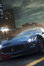 Preview iPhone wallpaper Supercar, road, city, speed, game