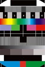 Pausa de TV, fundo colorido