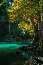 Preview iPhone wallpaper Thailand, waterfall, trees, creek
