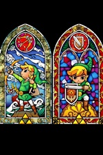 The Legend of Zelda, black background