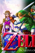 Preview iPhone wallpaper The Legend of Zelda, characters