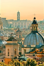 Preview iPhone wallpaper Travel to Rome, houses, city, Italy