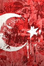 Preview iPhone wallpaper Turkey flag, painting