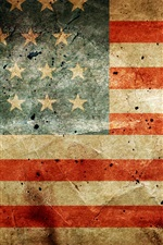 Preview iPhone wallpaper United States flag