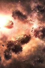 iPhone обои Вселенная, космос, взрыв туманности
