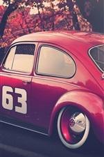 Preview iPhone wallpaper Volkswagen beetle red car