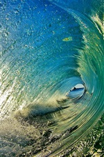 Preview iPhone wallpaper Water tunnel, sea, waves