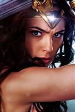 Preview iPhone wallpaper Wonder Woman, Gal Gadot, 2017 movie