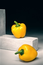 Preview iPhone wallpaper Yellow bell peppers, art photography