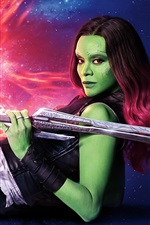 Preview iPhone wallpaper Zoe Saldana, Guardians of the Galaxy Vol. 2