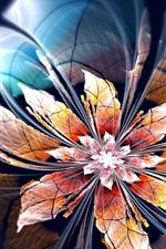 미리보기 iPhone 배경 화면 초록 꽃, 빛