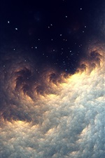 Preview iPhone wallpaper Abstract fractal, space, stars