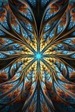 Padrões abstratos, luz