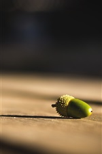 Preview iPhone wallpaper Acorn, still life, wood board
