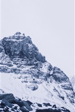 Preview iPhone wallpaper Athabasca, glacier, mountains, snow, Canada