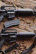 Preview iPhone wallpaper Automatic rifles, ammunition, guns, weapon
