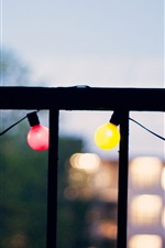 Preview iPhone wallpaper Balcony, colorful light, dusk