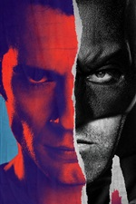 Preview iPhone wallpaper Batman v Superman, comics, art