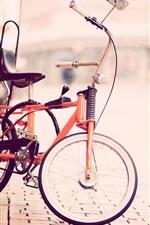 Bike, street, snow