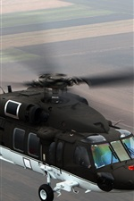 Preview iPhone wallpaper Black Hawk S-70i helicopter flight